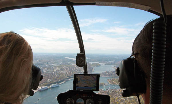 EXCURSIONS  Above the city, Helicopter tour